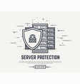 server security line vector image vector image