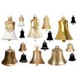 set bells as elements christmas design vector image vector image