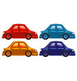 set four pictures cars in different colors vector image vector image