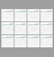 set identical light calendars 2018 months flat vector image vector image
