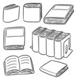 set of book vector image