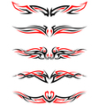 Setof Tribal Tattoos vector image