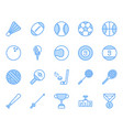 sport ball equipment icon and symbol set vector image vector image