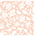 subtle pink and white floral background vector image vector image