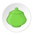 Sugar bowl icon cartoon style vector image vector image