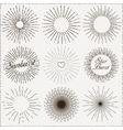 sunburst shapes vector image