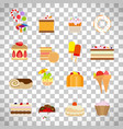 sweets and candies flat icons vector image vector image