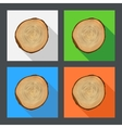 Tree growth rings flat icons vector image vector image