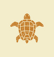 turtle flat icon vector image