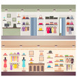 two designs of female clothing shops banner vector image vector image