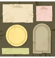 Vintage and retro old paper different objects vector image vector image