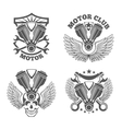 vintage motorcycle labels badges motorbike vector image