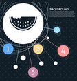 watermelon icon with the background to the point vector image vector image