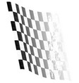 waving chequered flag vector image vector image