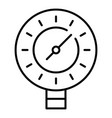 welding manometer icon outline style vector image vector image