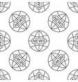 world and global news concept seamless pattern vector image vector image