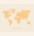 world map in vintage style vector image