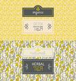 Tea packaging design elements vector image