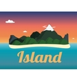Travel mountains sunset island landscape color vector image