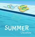 bright colorful summer holiday template vector image