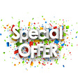 Special offer paper background vector image