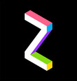 3d colorful letter z logo icon design template vector image vector image