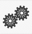 a gear icon on a transparent background vector image