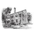 a north carolina mansion vintage vector image vector image