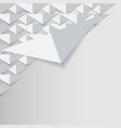 abstract 3d white geometric background white vector image