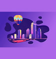 abstract city spot vector image