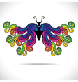 abstract colorful butterfly vector image vector image