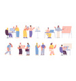 architect builder characters industrial vector image
