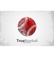 Baseball logo Baseball ball design Grunge logo vector image vector image