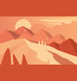 beautiful natural landscape scene of nature with vector image vector image