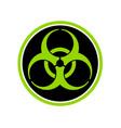 biohazard symbol circle vector image
