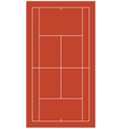 Brown tennis court vector image vector image