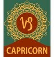 Capricorn Goat Zodiac icon with mandala print vector image