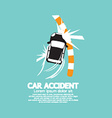 Car Accident With Footpath vector image vector image
