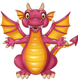 Cartoon funny dragon isolated on white background vector image vector image