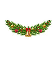 christmas garland isolated vector image vector image