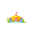circus building and trees facade exterior design vector image