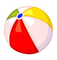 colorful cartoon rubber ball vector image