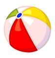 colorful cartoon rubber ball vector image vector image