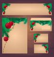 corporate christmas design corporate identity vector image