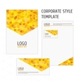 Corporate style template yellow triangles vector image vector image