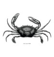 crab hand drawing vintage clip art vector image