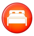 Double bed icon flat style vector image vector image