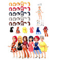dresses and hairstyles game vector image vector image