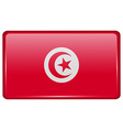 Flags Tunisia in the form of a magnet on vector image