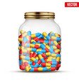 glass jars with pills vector image